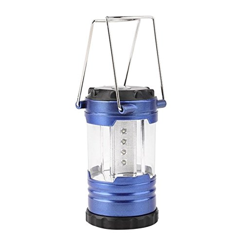 Price comparison product image 1-Pc Glistening Fashionable 12 LED Lantern Night Lights Camping Bivouac Portable Bright Reading Tent Lamp Telescopic Color Blue with Compass