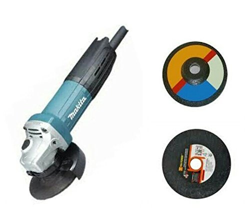 TOOLSCENTRE Tools Centre 720Watt Heavy Duty 100Mm Angle Grinder With Back On/Off Switch For Professional Use With Grinding & Cutting Wheel Free By Makita by TOOLSCENTRE