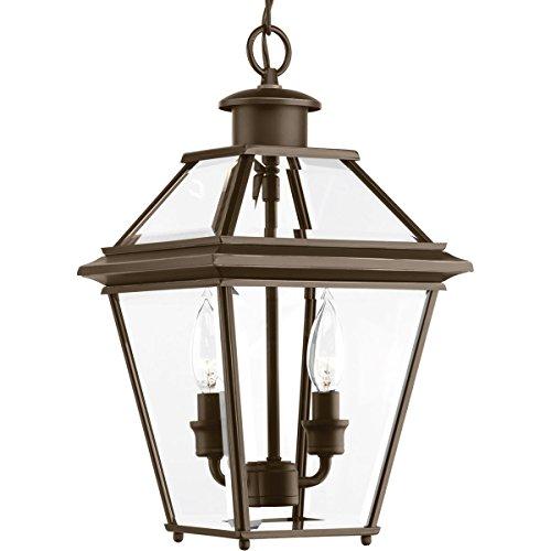 Progress Lighting P6537-20 Burlington Two-Light Hanging Lantern, Oil Rubbed Bronze (Fixture Lighting Hanging Lantern)