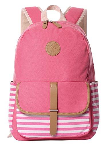 HONEYJOY School Backpack for Girls Boys School Cute Bookbag Canvas Outdoor Daypack