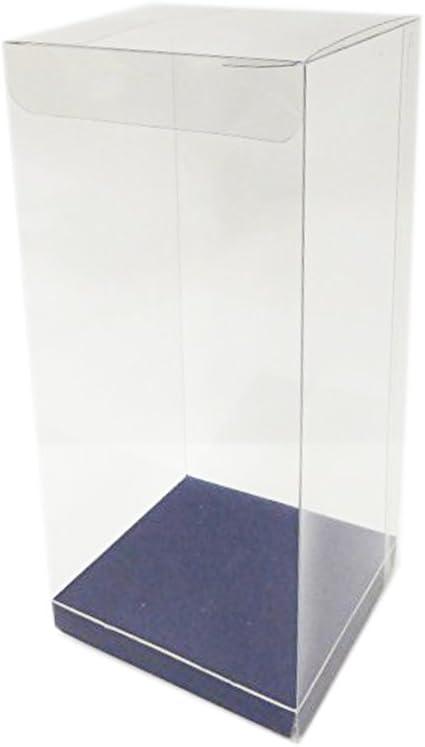 Caja transparente con fondo azul, de 8 x 8 x 18, 10 unidades ...