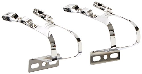 Soma Oppy X 4-Gate Pedals, Chrome, (Double Toe Clips)