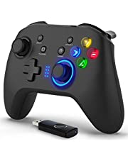 Wireless & Wired 2 in 1 Gaming Controller, Dual-Vibration Joystick Gamepad Computer Game Controller for PC Windows 7/8/10, PS3, Switch