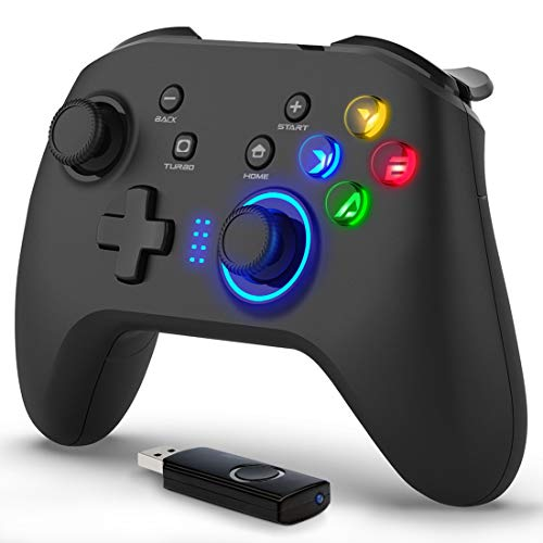 Forty4 Wireless Gaming Controller, Dual-Vibration Joystick Gamepad Computer Game Controller for PC Windows 7/8/10, PS3…