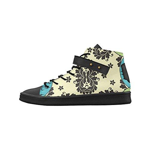 Artsadd Tourbillonne Et Fleurs Bout Rond Chaussures Pour Femmes Boost Sneaker