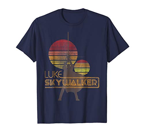 Star Wars  Retro Luke Skywalker Silhouette Suns T-Shirt