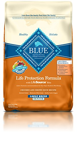 BLUE Life Protection Formula Senior Large Breed Chicken and Brown Rice  Dry Dog Food 30-lb Large Breed Formula