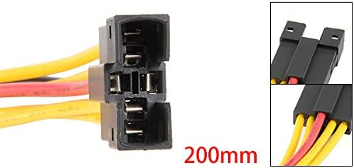 uxcell プッシュスイッチ接続ケーブル プラスチック 6ピン信号警報スイッチ 接続ケーブル