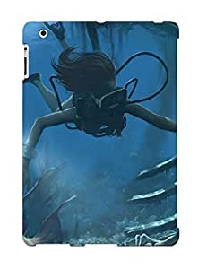 For Ipad 2/3/4 Protective Case, High Quality For Ipad 2/3/4 Scuba Diving With Skeleton Skin Case Cover by lolosakes