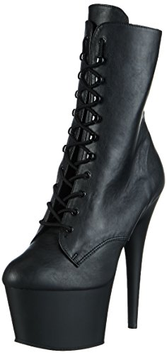 Pleaser ADO1020/BPU/M Women's Boot, Black Faux Leather/Black Matte, 6 M (Pleaser Boots)