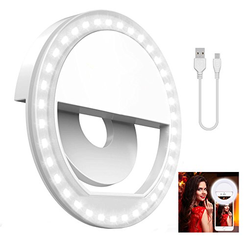 NIANPU Clip On Ring Light for Camera  Selfie LED Camera Ligh