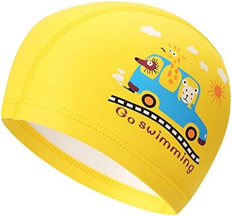 Peacoco 水泳キャップ キッズ 伸縮性良い 柔らかい かわいい UVカット 水泳帽 スイムキャップ 子供 スイミングゴーグル 子供用 水泳ゴーグル 曇り止め UVカット 防水