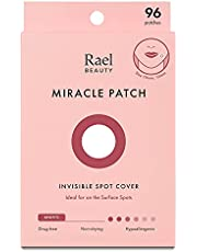 Rael Acne Pimple Healing Patch - Absorbing Cover, Invisible, Blemish Spot, Hydrocolloid, Skin Treatment, Facial Stickers, Two Sizes 10mm & 12mm (96 Count)