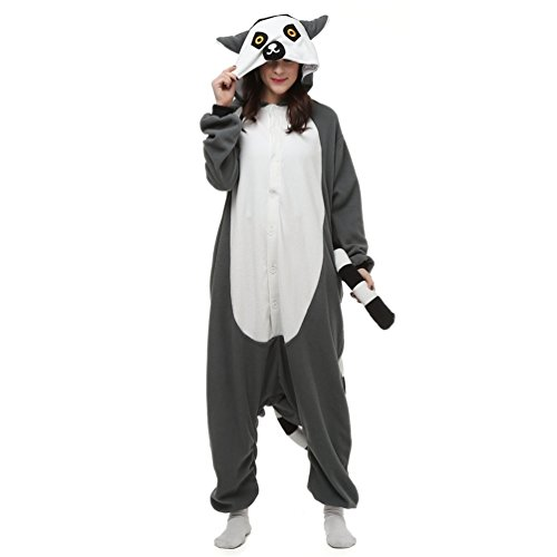 NINI.LADY Unisex Sleepsuit Pajamas Cosplay Costume Adult Sleepwear Lemur XL ()