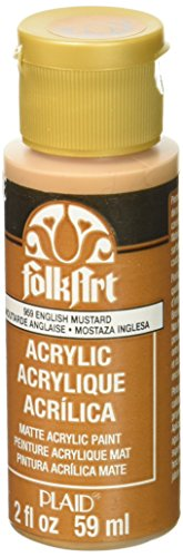 FolkArt Acrylic Paint in Assorted Colors (2 oz), 959, English Mustard (Best Mustard Yellow Paint Color)