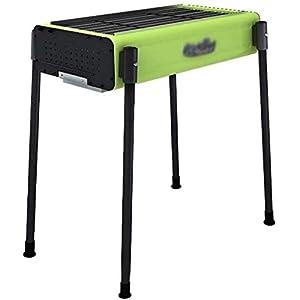 Barbecue per la casa e la cucina da picnic a carbonella spessa, con ripiano da picnic portatile, stabile e durevole 3 spesavip
