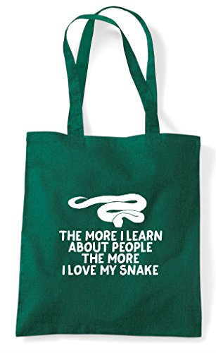 I Dark My Bag Pets Lover Shopper About Green Learn Person Love People Tote The More Funny Snake Animal 6qaYPxHn5w