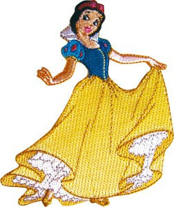 Snow White & The seven Dwarf Princess Embroidered Iron On Disney Movie Patch - On Disney Princess Iron