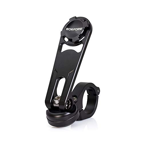 - Rokform Pro Series Motorcycle/Bicycle/Quad Handlebar Phone Mount, Aircraft Aluminum, Twist Lock and Magnetic Security w/Rokform Lanyard for Extra Protection - Black