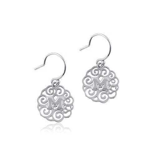 (University of Michigan Wolverines Sterling Silver Jewelry by Dayna Designs (Filigree Dangle)