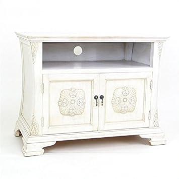 Wayborn Home Furnishing Medallion TV Cabinet, White