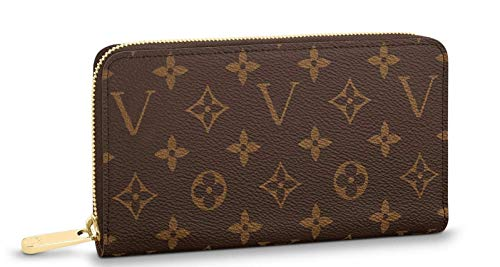 Luxury Paris ZIPPY Original 18ct gold plated zip around closure Wallet Genuine Monogram coated Canvas Leather Purse M42616