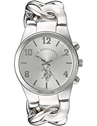 U.S. Polo Assn. Women's USC40178 Analog Display Analog Quartz Silver Watch