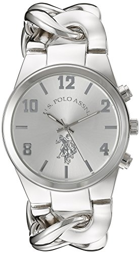 U.S. Polo Assn. Women's USC40178 Analog Display Analog Quartz Silver Watch (Silver Womens Watches)