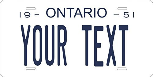 Canada 1951 Personalized Tag Vehicle Car Moped Bike Bicycle Motorcycle Auto License Plate (Ontario Car License Plate)