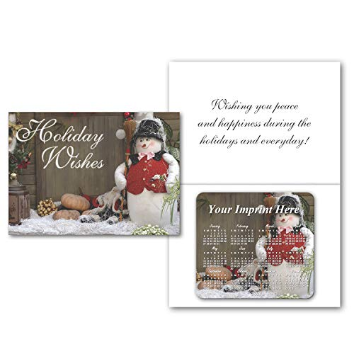 - Customized Greeting Cards with Magnetic Calendar-PERSONALIZED with Your Picture or Message-BULK Quantities-500, 1000, 1500, 2500, 5000 or 10000 per package