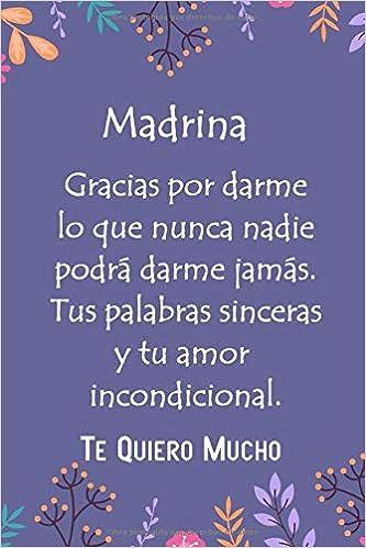 Libreta Rayada Libreta Con Frase Madrina Gifts Madrina