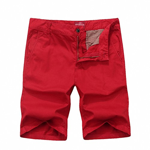 Price comparison product image Waterproof cargo military shorts Large size 28-38 size thin material for summer short pants short masculino 718 RED 38