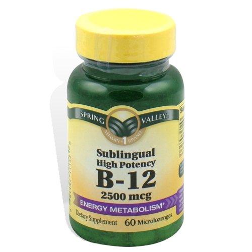 Spring Valley - Витамин B-12 2500 мкг, подъязычного, 60 Microlozenges