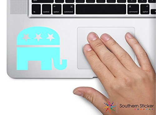 Mint Government - Republican elephant 3x3 mint government politics political parties united states america color sticker state decal vinyl - Made and Shipped in USA
