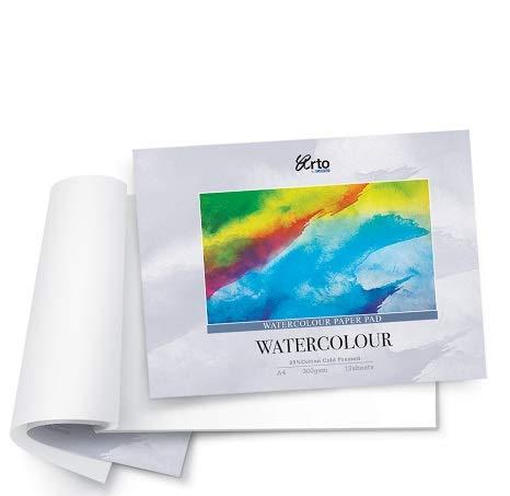 CAMPAP Arto x Fabriano Studio Watercolour Paper, 25% Cotton,  300gsm Cold Pressed, A4, Pad