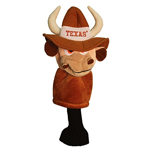 Team Golf NCAA Texas Longhorns Mascot Golf Club Headcover, Fits most Oversized Drivers, Extra Long Sock for Shaft Protection, Officially Licensed Product