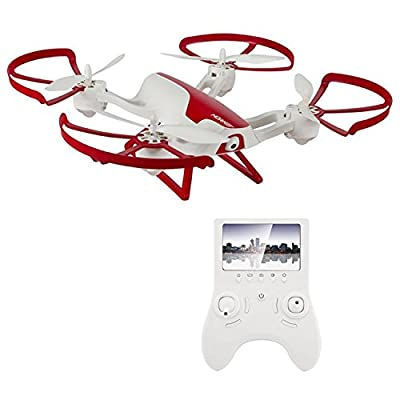Hornet FPV Drone with HD Camera 720p - RC Quadcopter with Altitude Hold, Return Home, Headless Mode and Flip Mode (White and Red) - Includes Extra Batteries for Drone and Controller from Force1 RC