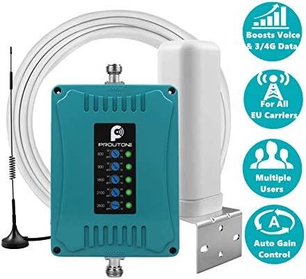 Teléfono Celular Repetidor de 5 Bandas para Casa y Oficina Uso - Mejorar Llamadas de Voz, Datos 3G y 4G LTE - 800/900/1800/2100/2600MHz Amplificador ...
