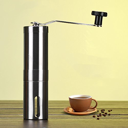 POTOLON mini coffee mill manual hand grinder stainless steel mill by POTOLON