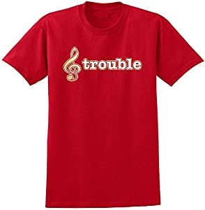 Music Notation Treble Trouble - Red Rot T Shirt Größe 87cm 36in Small...