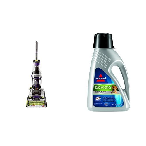 Bissell ProHeat 2X Revolution Pet Pro Full-Size Carpet Cleaner, 1986 & BISSELL 2X Professional Pet Urine Eliminator Full Size Machine Formula, 48 ounces, 67A5