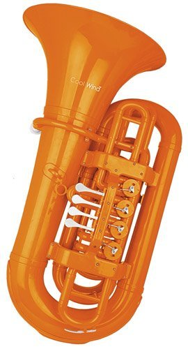 Cool Wind CTU-200 Series 4-Valve BBb Tuba Orange by Cool Wind