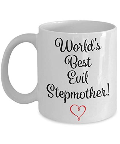 AliceHitMood - Evil Stepmother Mug - Evil Stepmother Gift - Wicked Stepmother Mug - Wicked Stepmother GIft - Funny Wicked Gag Gift For Stepmoms,11oz Ceramic Coffee Mug/Cup, Gift Wrap Available