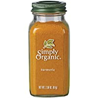 Simply Organic Turmeric Large Glass, 67g