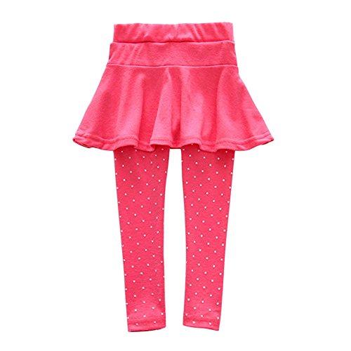Weixinbuy Kid Baby Girl Wool Polka Dot Culotte Legging Trousers Pantskirt