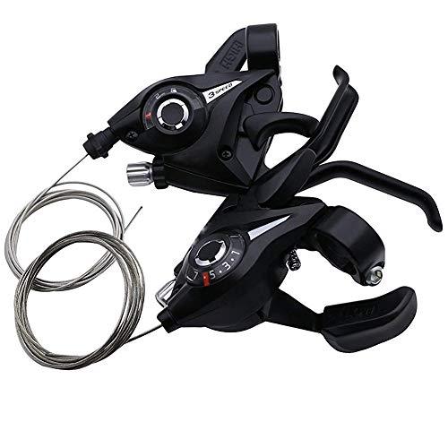 TX30-7 Bicicletas Desviador Gatillo Palanca de Cambios con el Cambio de Velocidad por Cable 3x7 7 Engranajes 21 de Velocidad de Aluminio de Ciclo 1Pair