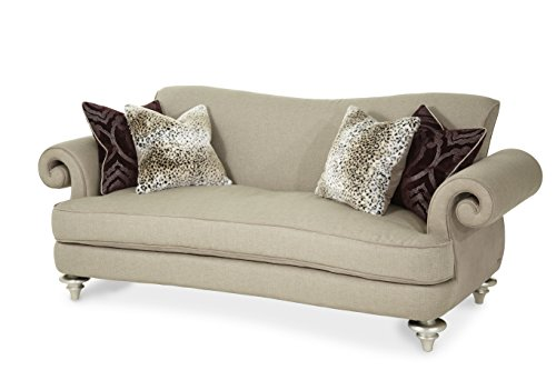 Michael Amini 03815-TAUPE-05 Hollywood Swank Grp1/Op2 Sofa, Taupe
