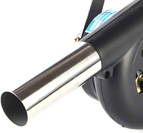 DF-FR Ventilateur à Combustion à manivelle extérieure Barbecue Manuel Pique-Nique Camping Outil Feu Sèche-Cheveux Grand Noir (Couleur: Noir)