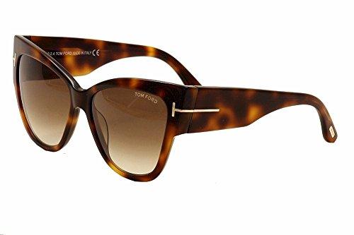 Tom Ford Anoushka FT0371-53FSunglasses, Blonde Havana Frame/Gradient Brown Lens, - Sunglasses 2014 Tom Ford