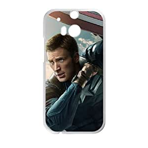 Captain America HTC One M8 Phone Case Black white Gift Holiday Gifts Souvenir Halloween Gift Christmas Gifts TIGER157563